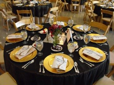 Table setting for 8 for the Glenpool Chamber Annual Banquet